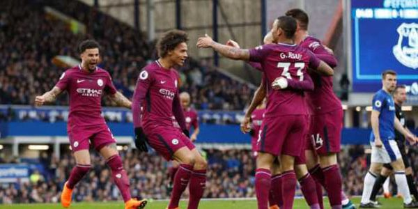 Laporan Pertandingan Sepakbola Liga Inggris Everton VS Manchester City